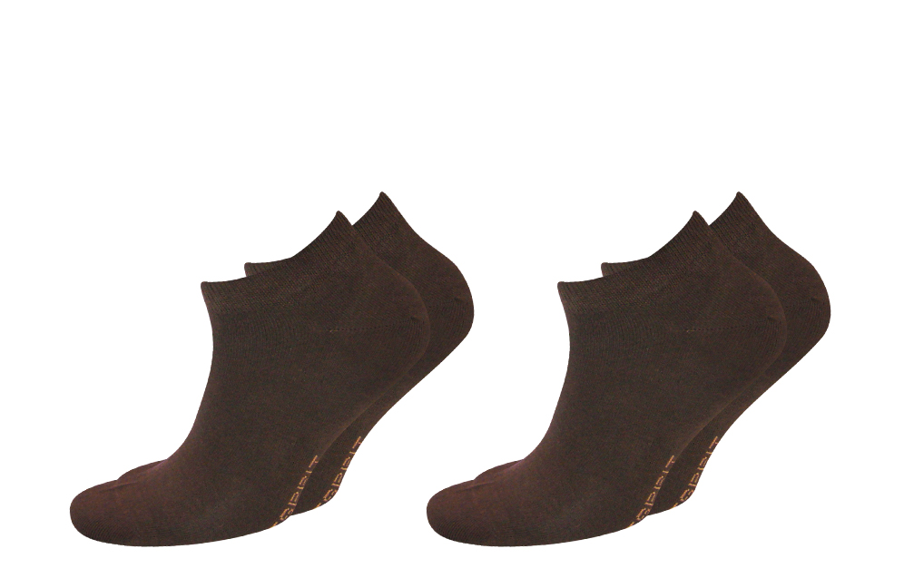 2er Pack Esprit Herren Sneaker Socken Füsslinge 39-42 braun