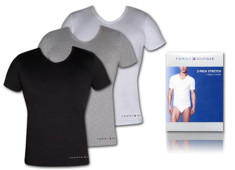 3 x tommy hilfiger unterhemd t shirt herren s m l xl ebay. Black Bedroom Furniture Sets. Home Design Ideas