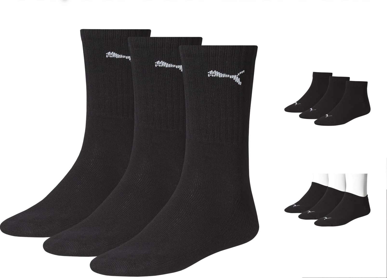 12 9 6 paar puma tennissocken sportsocken sneaker quarter. Black Bedroom Furniture Sets. Home Design Ideas
