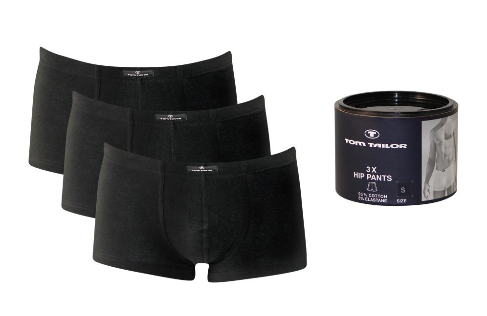 3er-Pack-Tom-Tailor-Herren-Boxershorts-Unterwaesche-S-M-L-XL-schwarz-oder-weiss