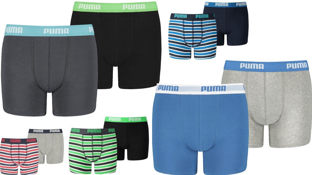 Details zu Puma 4er Pack Jungen Boxershorts Unterwäsche 122 128 134 140 146 152 158 164 176